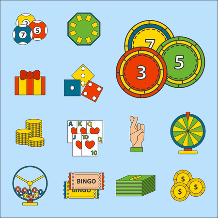 Casino game icons vector illustration.