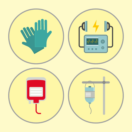 Hospital icons set vector illustration Stock Illustratie