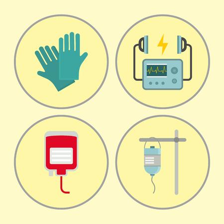 Hospital icons set vector illustration Illustration