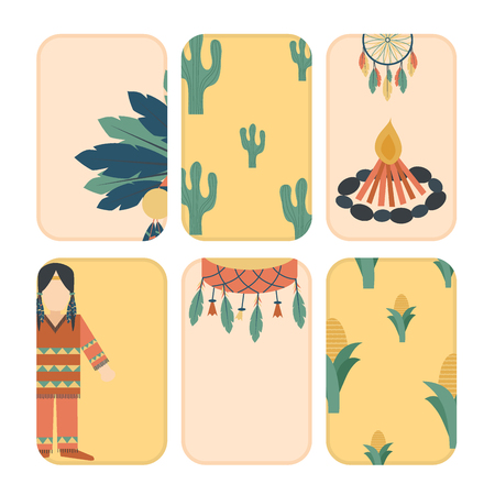 Indians icon temple ornament cards element retro vintage hinduism ethnic people tools vector illustration. Traditional travel asia religion ornament vector.  イラスト・ベクター素材