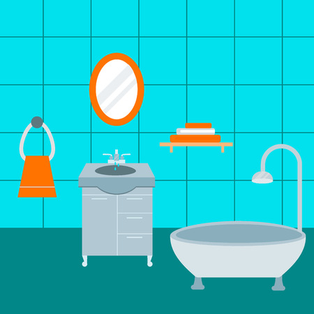 Bathroom icons vector illustration. Stok Fotoğraf - 96455321