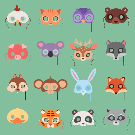 Animals vector for carnival vector set Illustration