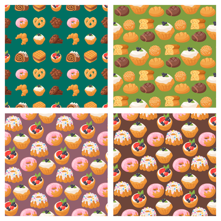 Cookie seamless pattern background vector illustration Stock Vector - 96446173