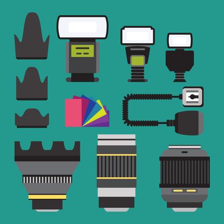 Camera icons illustration set 向量圖像