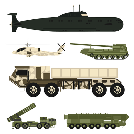Military army transport vector illustration. Çizim