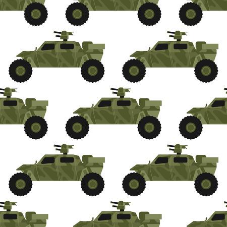 Militaire leger transport naadloze patroon vectorillustratie.