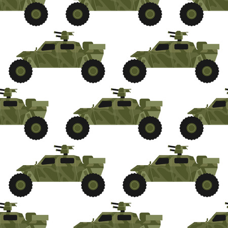 Military army transport seamless pattern vector illustration.