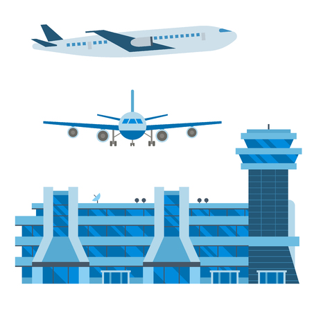 Aviation icons illustration
