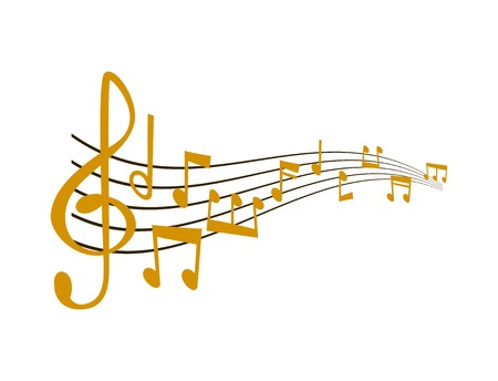 Notes music vector illustration Vettoriali