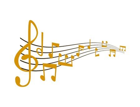 notes musique illustration vectorielle Vecteurs