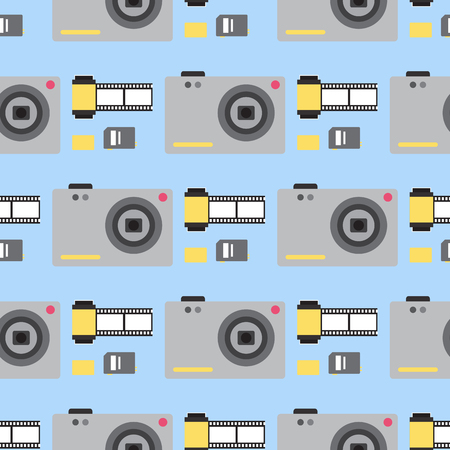 Camera seamless pattern background illustration