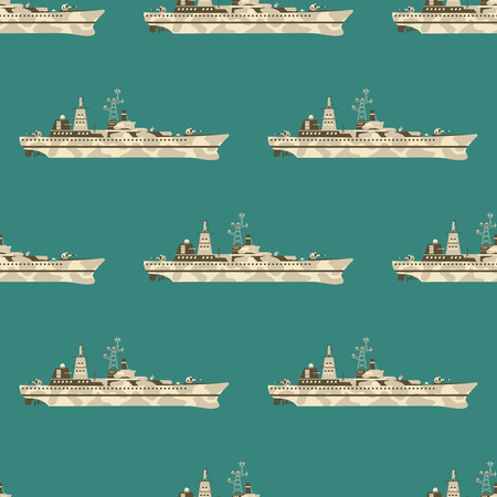 Military war tanks seamless pattern background vector illustration.