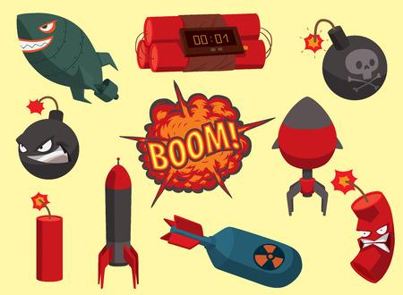 Bomb vector dynamite fuse illustration grenade attack power ball burning detonation explosion fire military destruction design aggression.