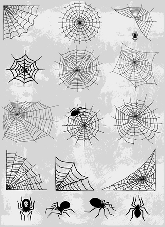 Spiders web vector set