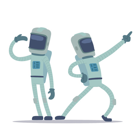 Astronaut in space vector character Illustration