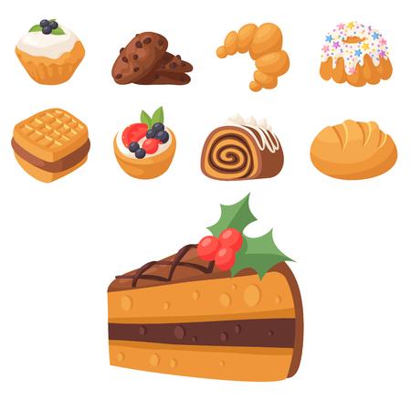 Panadería conjunto de ilustración de alimentos Foto de archivo - 97050903