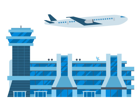 Aviation airport vector airline graphic airplane airport transportation fly travel symbol illustration