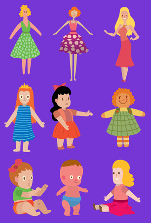 Cartoon dolls set