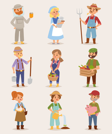 Cartoon farmers set