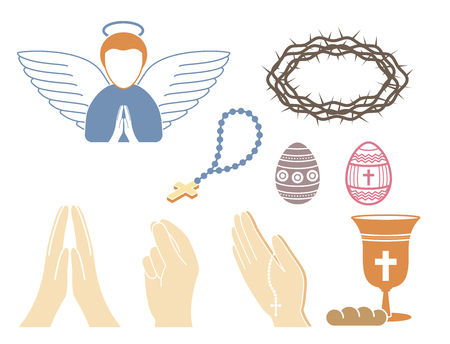 Christianity religion vector set