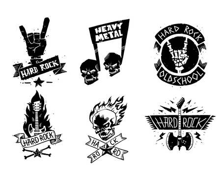 Rock metal music icon illustration