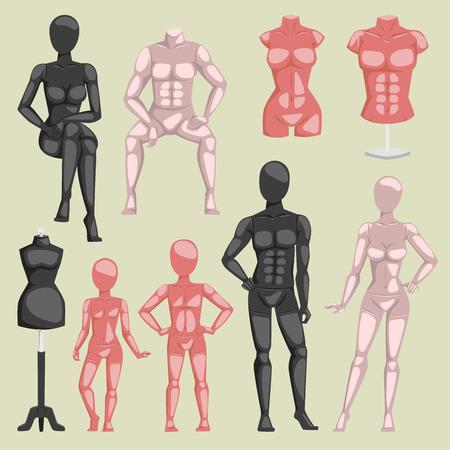 Mannequin doll image illustration