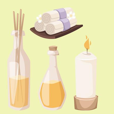 Spa relaxation items image illustration Illustration