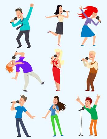 Enthousiaste fête des gens d & # 39 ; affaires chanter avec le réparateur Banque d'images - 97275894
