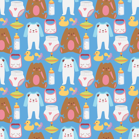 Baby toys icons Illustration
