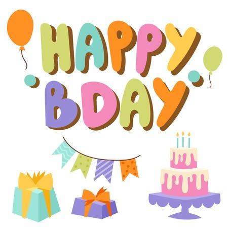 Happy birthday balloon decoration