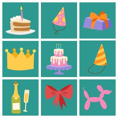 Happy birthday party celebration decoration
