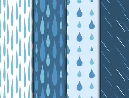 Rain drops  pattern Illustration