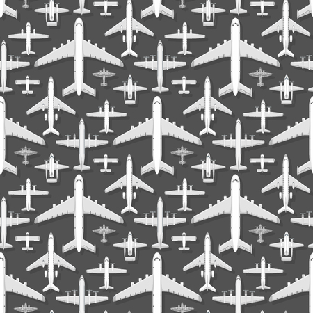 Airplane seamless pattern background vector illustration