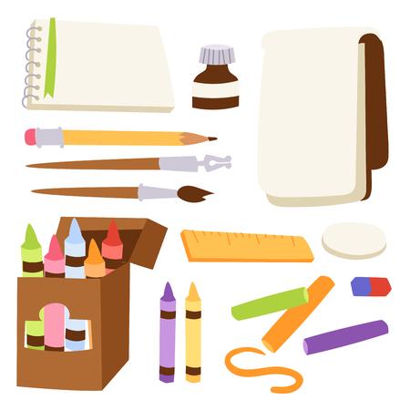 Painting tools set vector illustration