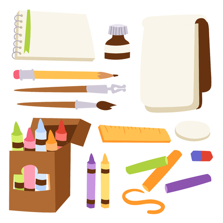 Painting tools set vector illustration