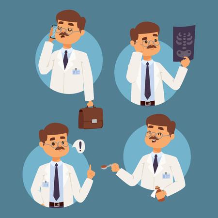 Doctor nurse character vector medical man staff flat design hospital team people doctorate illustration. Reklamní fotografie - 97362392