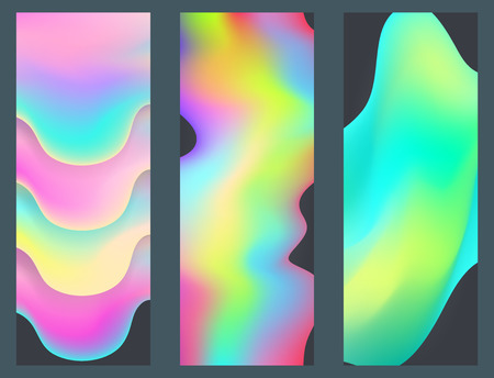 Universal holographic blur texture abstract color fills background surface vector illustration brochure.
