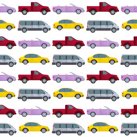 Car type design seamless pattern background vector illustration. Ilustracja