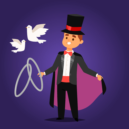 Magician vector character vector illustration Illustration