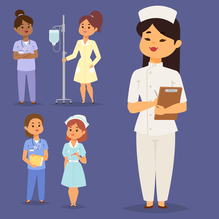 Nurse character vector  illustration.