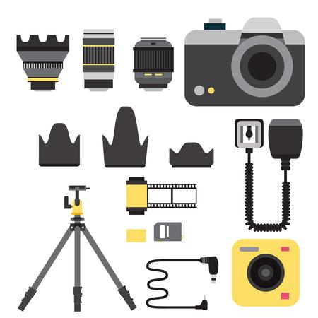 Camera photo vector studio icons
