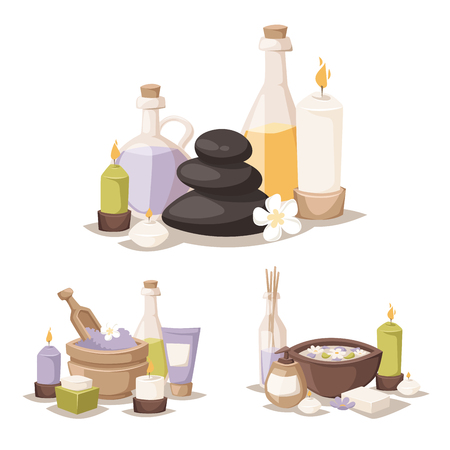 Spa vector icons illustration.