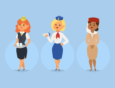 Stewardess vector illustration 免版税图像 - 98513028