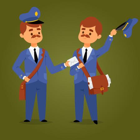 Postman character vector Ilustração