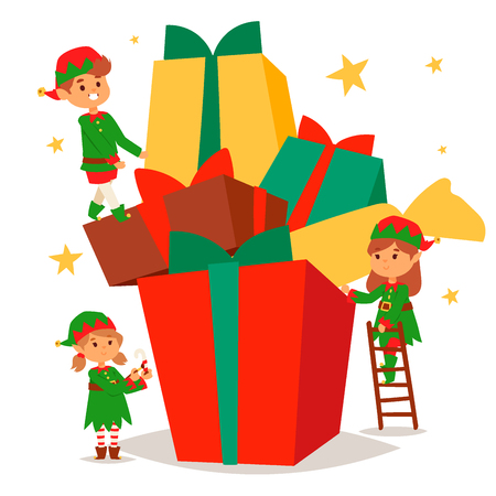 Santa Claus elf kids