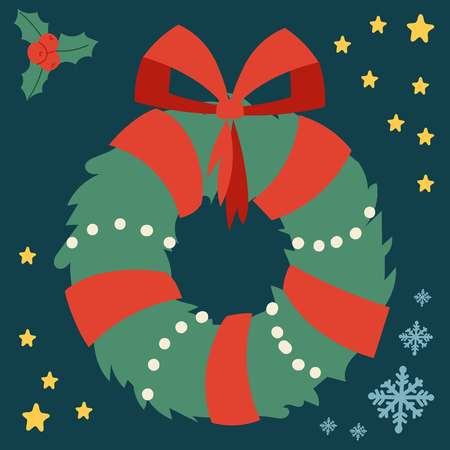 Christmas wreath symbol