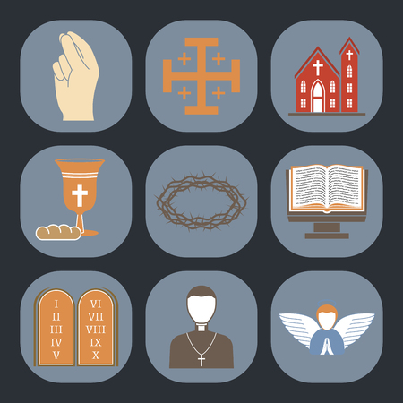 Christianity religion vector icon flat illustration