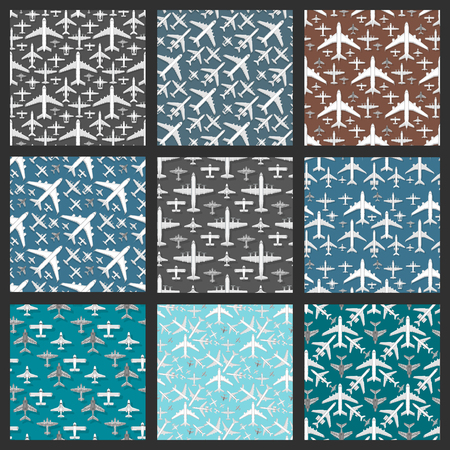 Airplane seamless pattern background vector illustration.