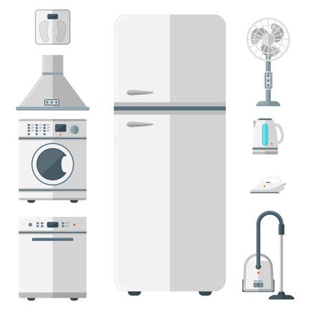 Huishoudelijke apparaten vector huishoudelijke huishoudelijke apparatuur keuken elektrische huishoudelijke technologie voor huiswerk tools illustratie Stockfoto - 98265740