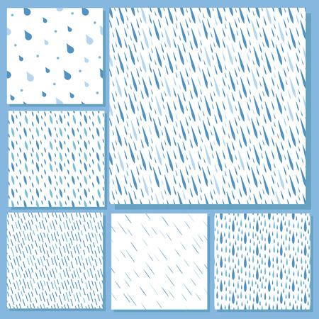 Rain drops seamless pattern background vector water blue nature raindrop abstract illustration Illustration